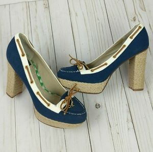Milly for Sperry platform navy canvas/white 9.5